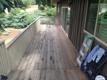 Redwood deck- before