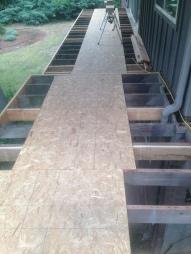 Redwood deck- construction phase