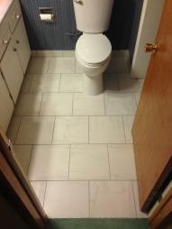 Porcelain tile after