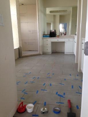 Piney Creek Estates Master Bathroom Remodel- Construction Phase