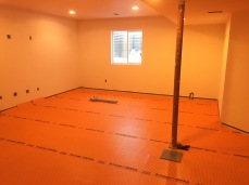 Canterberry Crossing Parker Basement #3- Construction Phase Ditra Install