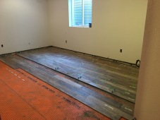 Canterberry Crossing Parker Basement #3- Construction Phase 6x36 Plank Style Tile Install